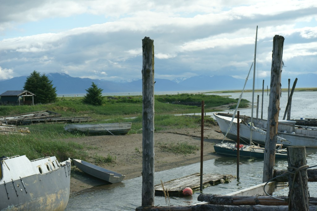 Gustavus boat harbor.