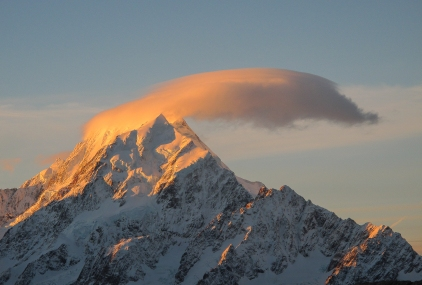 Winter sunset on Mt. Cook