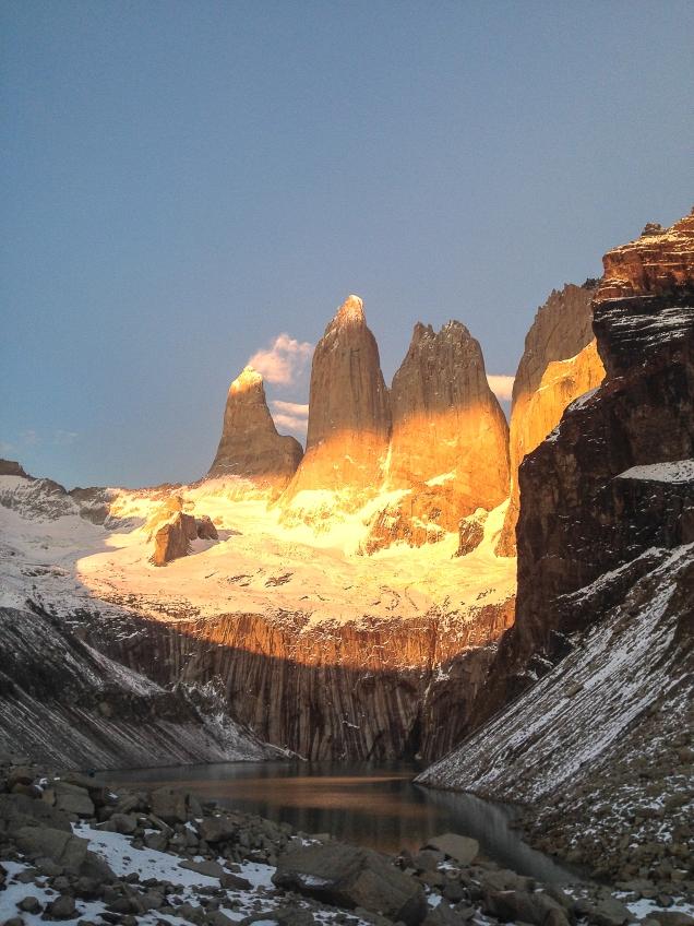 Sunrise at Torres Del Paine. Magallanes, Chilean Patagonia.